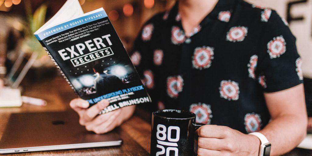 The Expert Secrets book by Russell Brunson of ClickFunnels